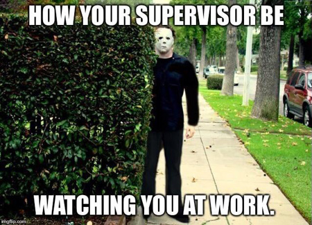 michael myers supervisor at work