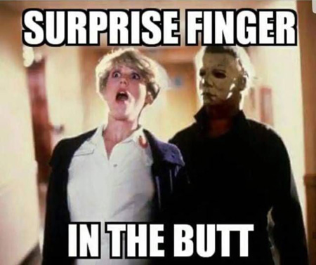 michael myers surprise finger