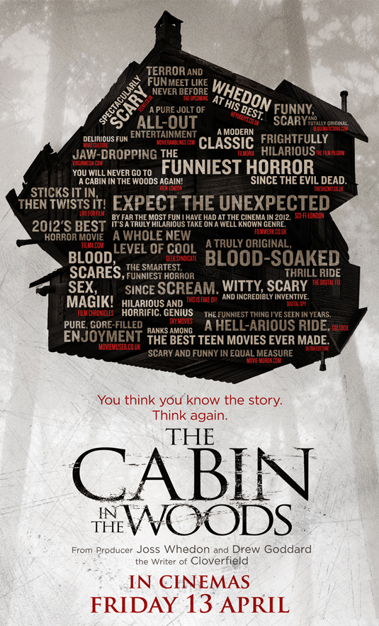 Cabin In The Woods Poster, Featuring Movie Moron Quote