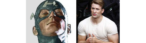 Chris Evans - Captain America movie pictures 2011