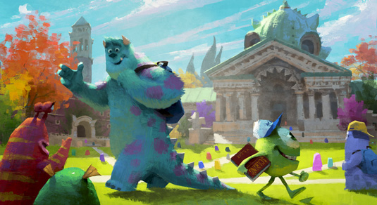 Monsters University Concept Art