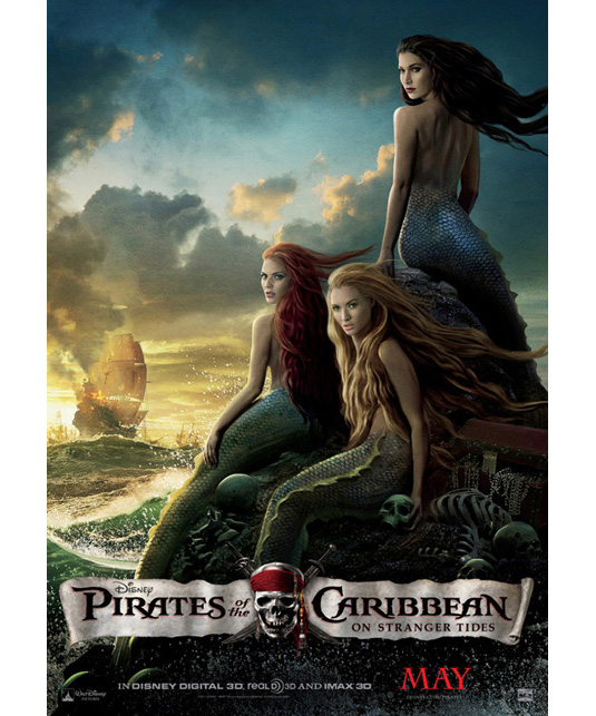 New Pirates Of The Caribbean : On Stranger Tides - Poster