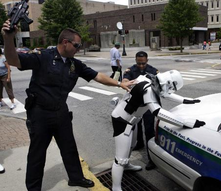 Stormtrooper Arrested