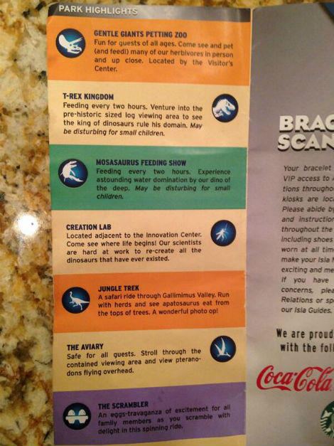 Jurassic World brochure 2
